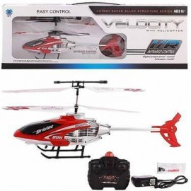 Velocity 2-in-1 Flying Remote Control Helicopter With Remote Controller & Unbreakable Blades Infrared Sensors  (red)