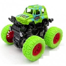 4wd Monster Truck Shockproof Cars Push And Go Toy Truck Friction Powered Cars 4 Wheel Drive Vehicles For Toddlers Children Boys Kids Birthday Gift (green-pack Of 1)