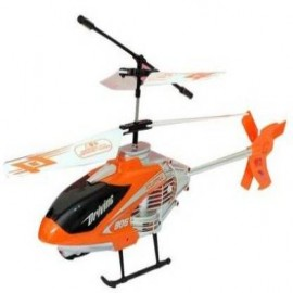Mezire Velocity 2-in-1 Flying Remote Control Helicopter With Remote Controller & Unbreakable Blades Infrared Sensors (orange)